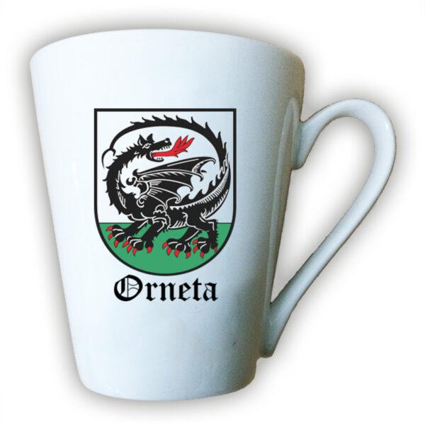Kubek ceramiczny Latte - Smok Ornecki - herb